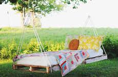 DIY Outdoor Swing Beds