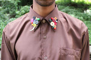 Utilize Colorful Buttons to Make a Stylish Collar with This Tutorial