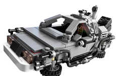 Retro LEGO Time Machines - This Diminutive DeLorean Will Have You Travelling Back in Time
