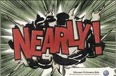 Comic-Inspired Brake Ads