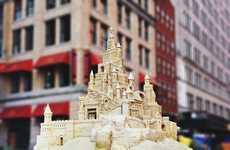 Metropolitan Sand Castles - The Matt Long Giant Sand Castles Found Their Way to New York City