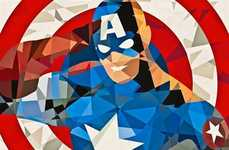 From Pixalated Superhero Portraits to Nominal Hero Illustrati