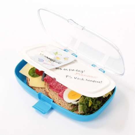 Disease-Fighting Lunch Boxes - This Smart Lunch Box Design Conveniently Reminds Kids to Use Wet Naps