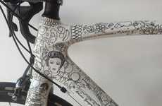 Intricately Illustrated Bikes