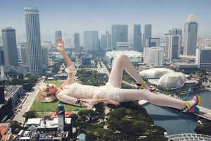 Caleb Lim Shoots a Literal Fashion Titan