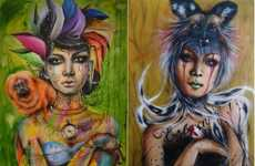 Soulful Bohemian Portraits - Doce Freire's Art Series is Full of Color and Creativity