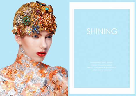 Encrusted Beauty Editorials - The PS Magazin