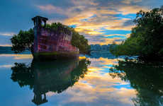 Abandoned Ship Gardens - This Floating Forest is a Stunning Upcycle of an Old Abandoned Ship