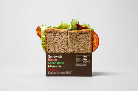 Upscale Corner Store Packaging - This 7-Eleven Fast Food Packaging Gets a Typographic Treatment