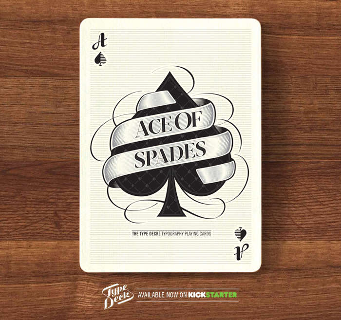 Typography-Centric Playing Cards