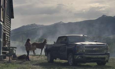 Strong Female Truck Campaigns  - The Chevy Silverado 'A Woman and Her Truck' Ad is Masculine
