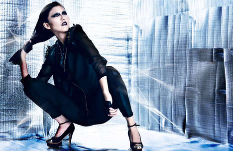 Contrasting Futuristic Fashion Editorial