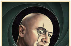 Realistic Villain Portraits - These Illustrations Accurately Depict Villains from Bond Films