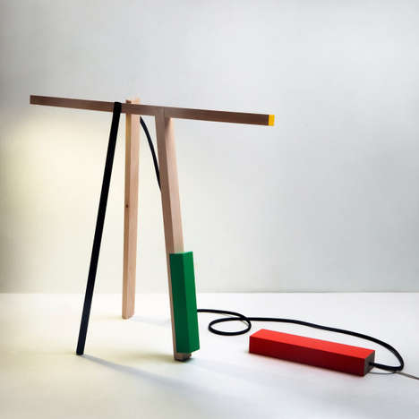 Abstract Toy-Inspired Lamps - Sculpted Light by Mari Isopahkala is Modelled After Building Blocks
