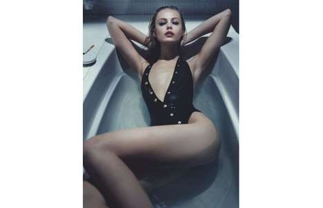 Bathtub Swimsuit Editorials - The Interview Magazine June July 2013 Issue Stars Frida Gustavsson
