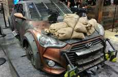 Apocalyptic Fighting Vehicles - This Hyundai Veloster is Perfectly Equipped to Help Fight Zombies