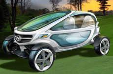 Sleek Futuristic Golf Carts - The Mercedes-Benz Golf Carts are Luxuriously High-Tech