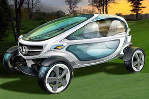 The Mercedes-Benz Golf Carts are Luxuriously High-Tech