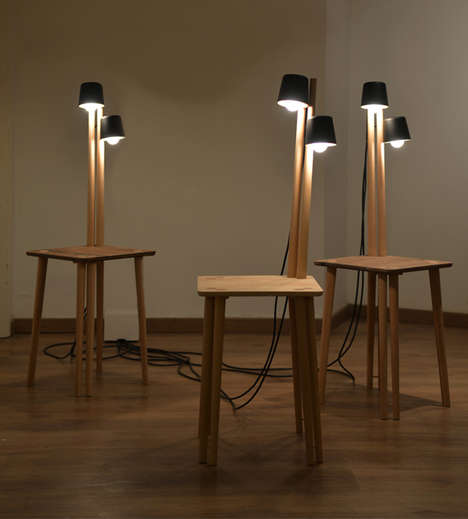 Built-In Lamp Furniture - The Slim Collection by Nir Meiri are Quirky and Practical