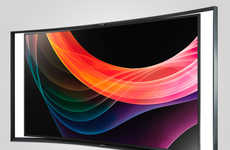 Sleekly Curved LED TVs - The New Samsung OLED TV Allows Viewers to Watch Two Shows Simultaneously