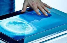 Biometric Tabletop Touchscreens
