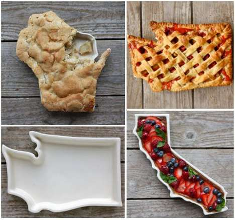 State-Shaped Pie Plates - The Fifty United Plates Proudly Offer Bakers a Way to Shape Their Desserts
