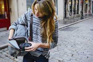 The Bolton Street Camera Backpack Stores Gear Safely and Securely