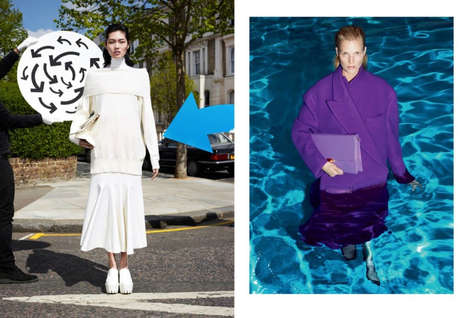 Pool-Dipping Fashion Ads - The Stella McCartney Fall 2013 Campaign Combines Chlorine with Couture