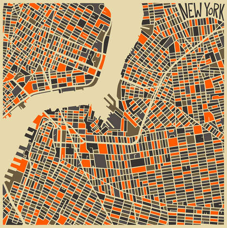 Abstract City Maps