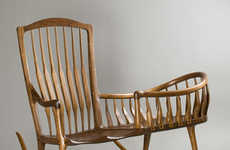 Baby-Friendly Rocking Chairs - Scott Morrison Designs Rocking Chairs for Parents and Infants