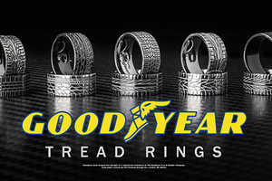 Tread Rings Come in a Variety of Styles to Match Your Choice Brand or Car