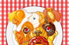 Bizarre Food Mashup Portraits