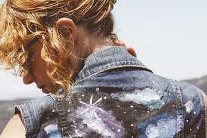 This DIY Activity Turns an Average Jean Jacket into a Galactic Scene