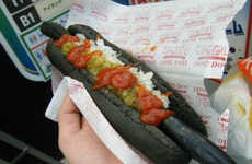 Bizarrely Blackened Hot Dogs