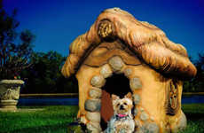 Eco-Friendly Pooch Cottages - Monster City Studios Handcrafts Chic Eco-Friendly Dog Houses
