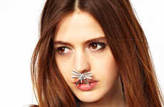Eccentric Nose Accessories - This Piece of Nose Jewelry by ASOS Channels Couture Facial Accessories