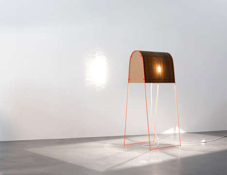 Saddle-Like Lighting - The Zigzag Grandma Lamp by Nico Goebel is Made Out of Cardboard