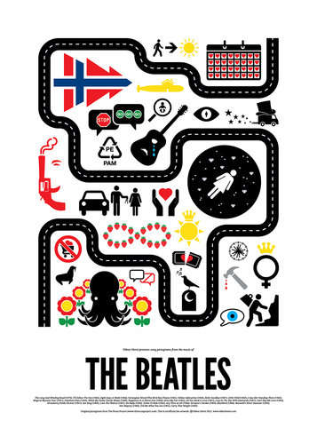 Pop Music Pictogram Posters - These Pop Music Illustrations Turn Famous Tunes into a Picture Puzzle