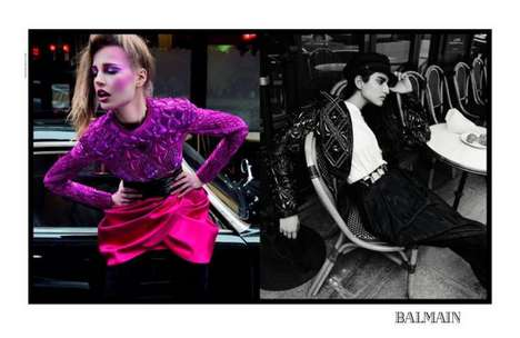 Vibrantly Retro Fashion Ads - The Balmain Fall 2013 Campaign Stars an Eclectic Cast
