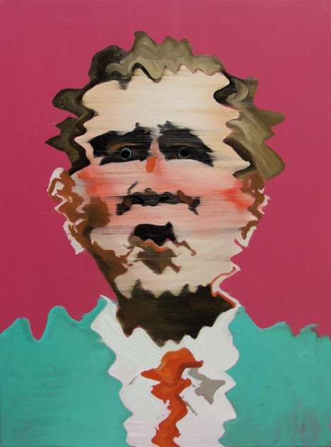 Figurative Deconstructivist Paintings - Artist Nicholas Chistiakov Depicts Glitchy Iconic Figures