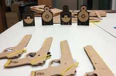 Clever Cardboard Rubber Guns
