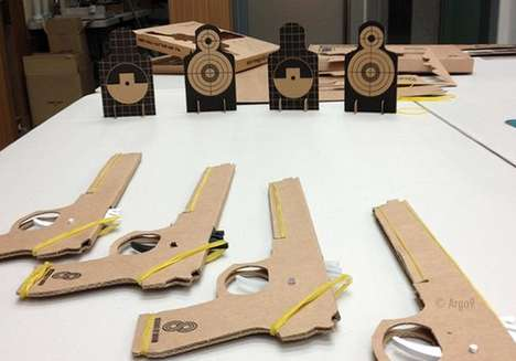 Clever Cardboard Rubber Guns - These Cardboard Guns Are Great for Training to Shoot Precisely
