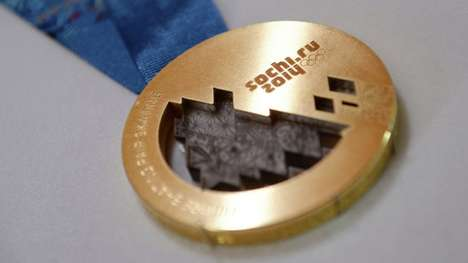 Space-Infused Olympic Medals - The Gold 2014 Olympic Medals Will Be Merged with Meteorite Fragments