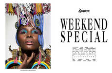 Exotically Illustrated Editorials - Steve Marais Captures the Gaschette Magazine 'Weekend Special'