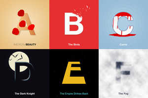 Doaly's Iconic Film Typography Connects Letters With Popular Films