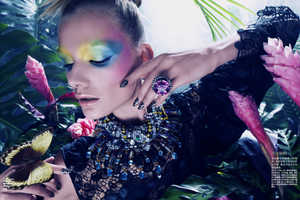 Zuzana Straska is the model of Exotic Zoo Editorial by Amber Gray