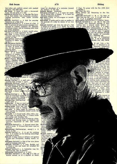 Drug Dealer-Inspired Newspaper Art - These Breaking Bad Portraits are Stunning Recycled Art Pieces