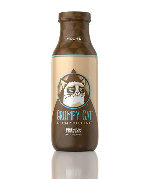 Meme Cat Coffee Beverages - The Grumpy Cat Grumppuccino Will Be Available in Three Delicious Flavors