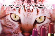 Feline Beauty Ad Parodies - These Funny Beauty Cat Ads are Inspired by Women's Top Beauty Bran