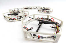 Self-Grouping Drones - The Distributed Flight Array Drones are 3D-Printed